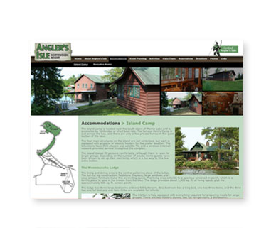 Angler's Isle Northwoods Resort website